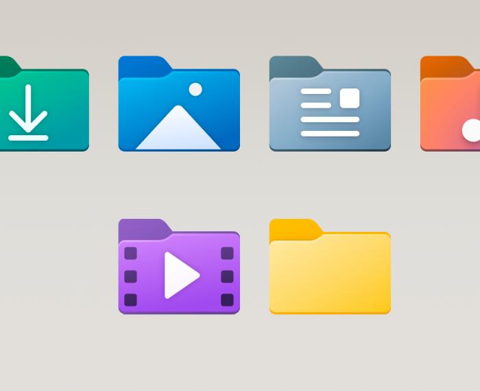 Nuevos íconos en Windows 10