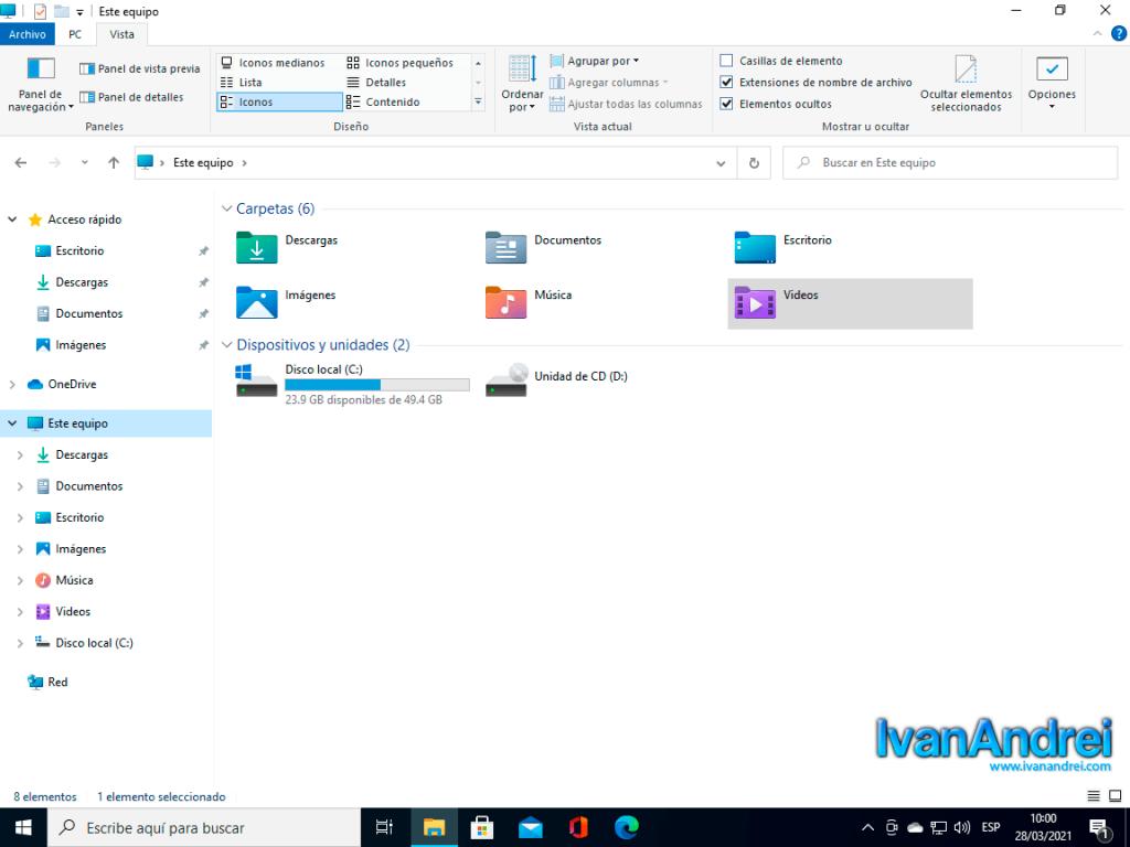Nuevos íconos en el Explorador de Windows 10