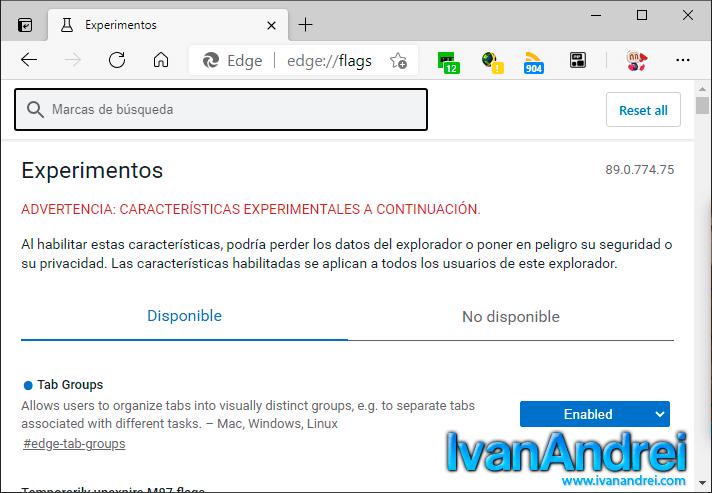 Opciones ocultas de Microsoft Edge - Página flags