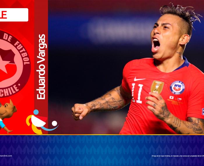 Copa América Brasil 2021 - Selección de Chile - Eduardo Vargas
