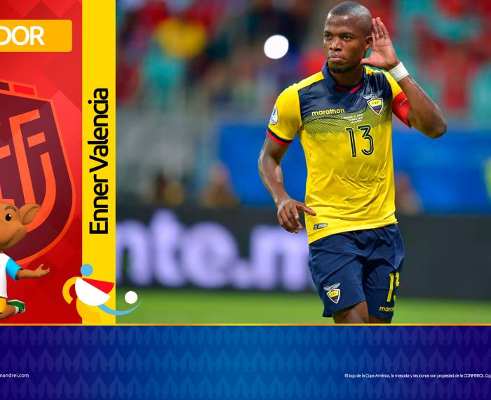Copa América Brasil 2021 - Selección de Ecuador - Enner Valencia