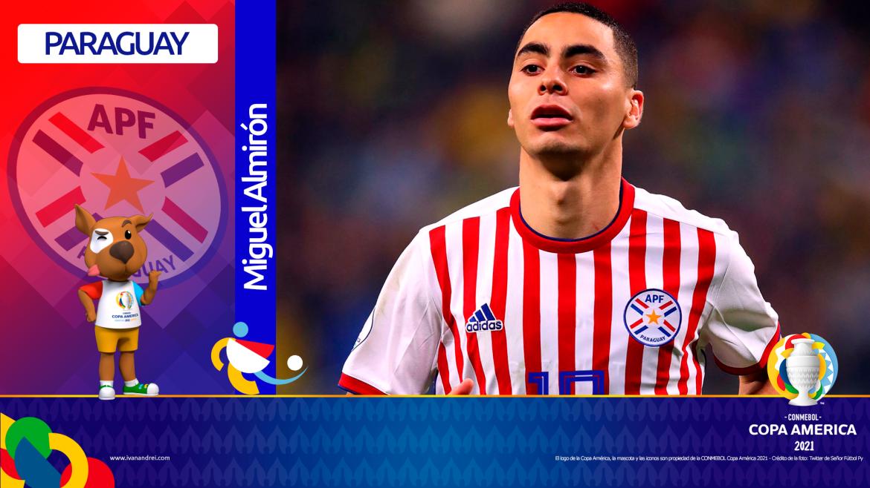 Copa América Brasil 2021 - Selección de Paraguay - Miguel Almirón