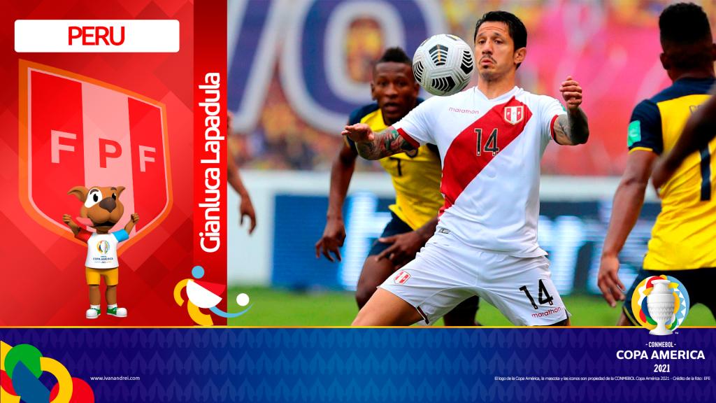 Copa América Brasil 2021 - Selección de Perú - Gianluca Lapadula
