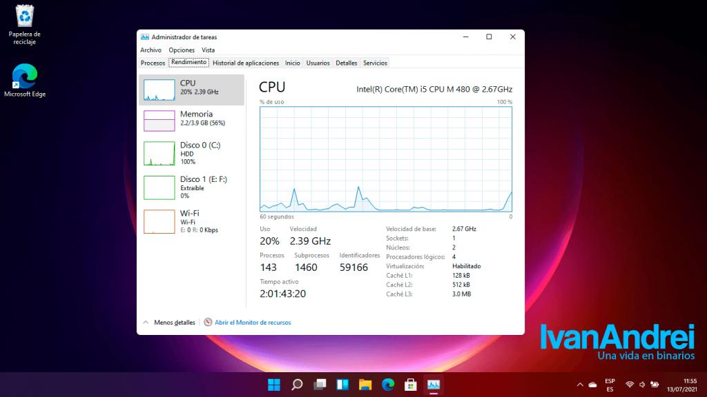 Administrador de tareas en Windows 11