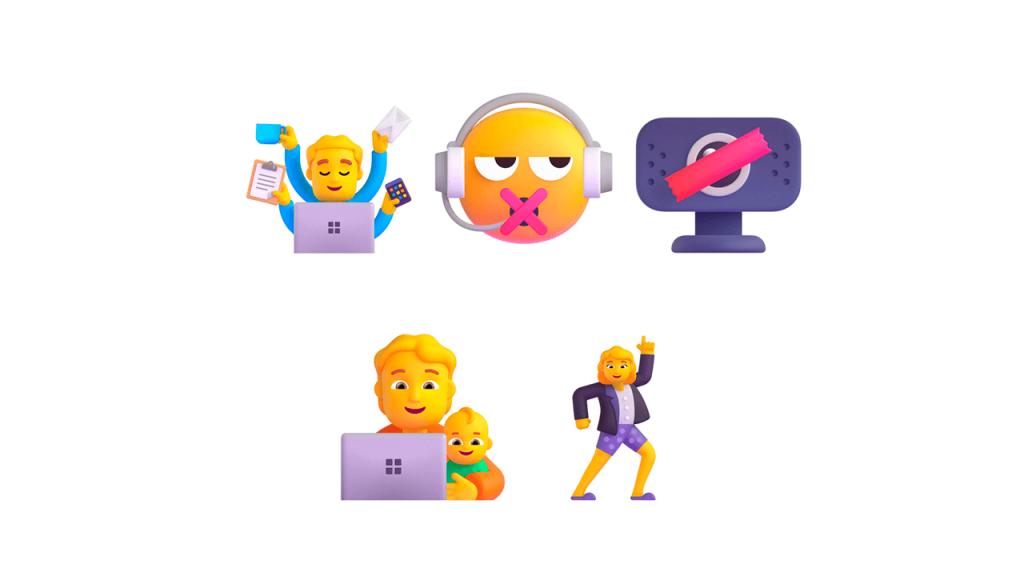 Emojis de trabajo remoto