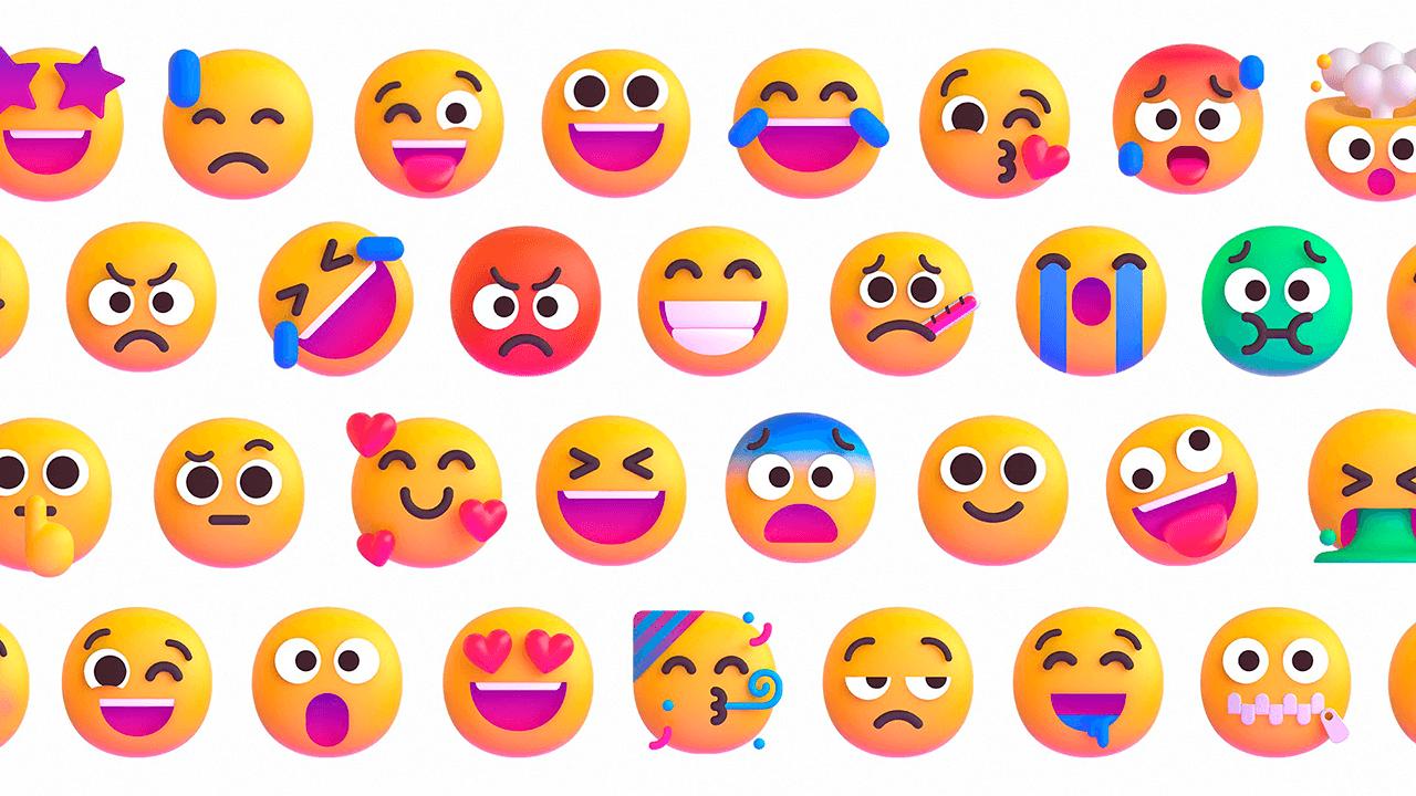 Emojis Fluent Design 3D de Microsoft