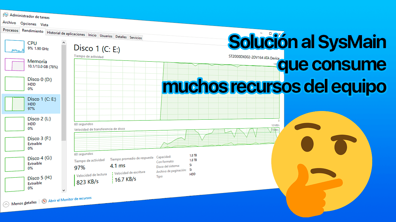 Solución al SysMain que consume muchos recursos del equipo
