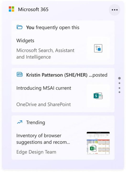 Windows 11 - Widget Microsoft 365