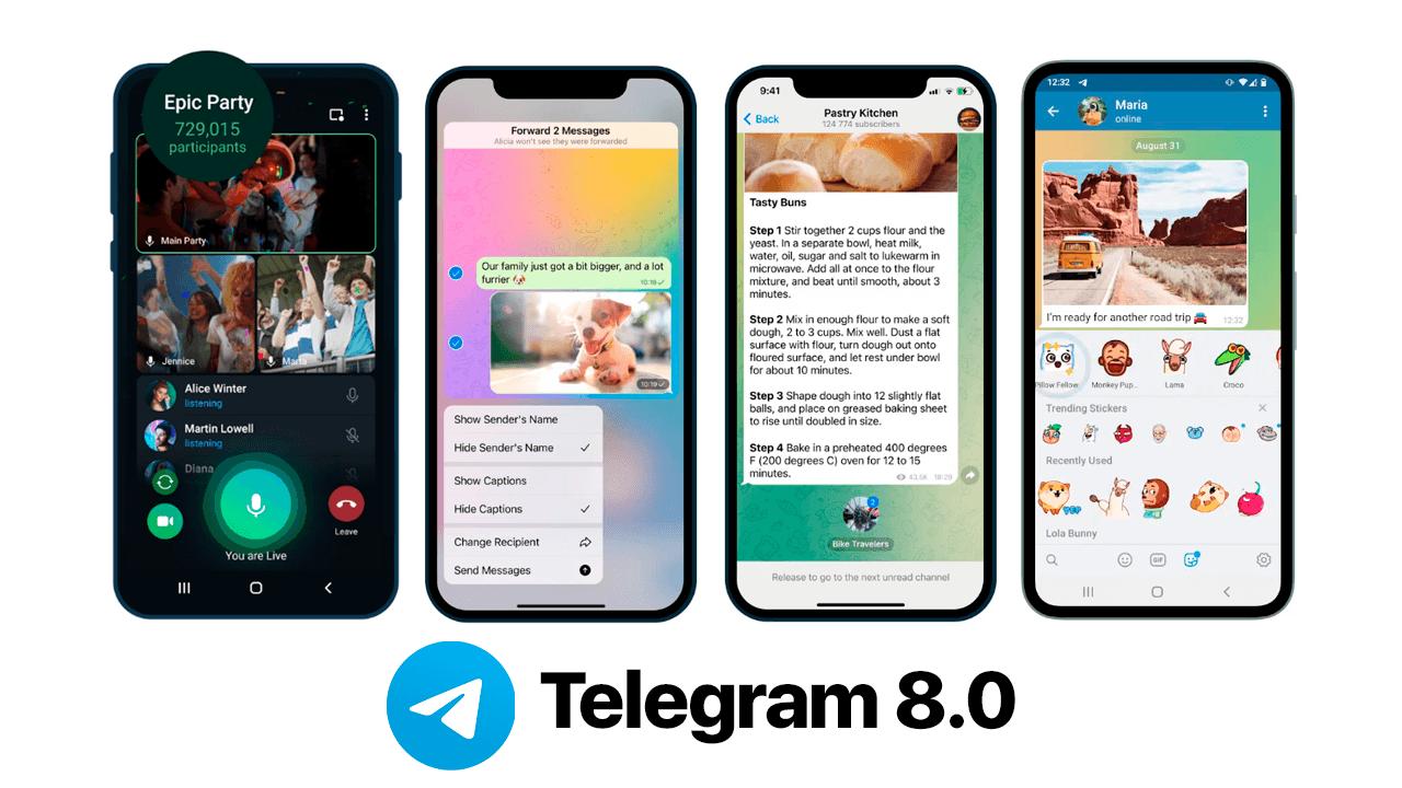Nuevo Telegram 8.0