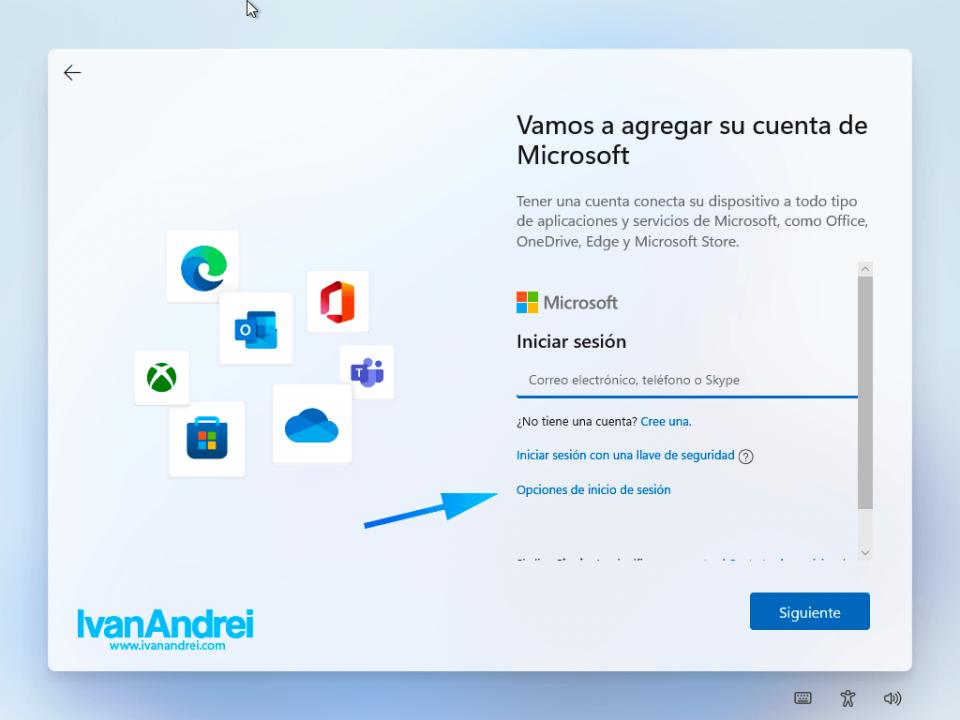 Asistente de instalación de Windows 11 - Cuentas