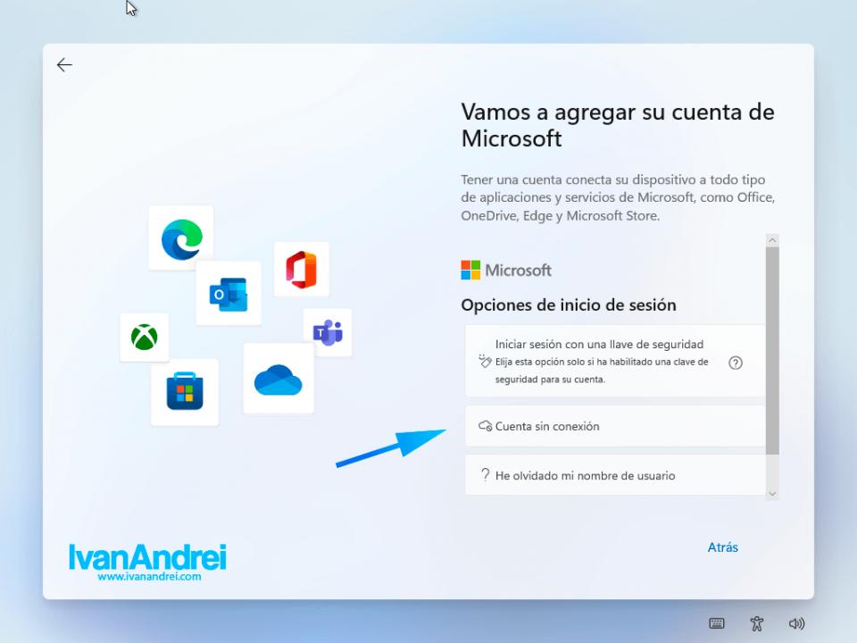 Windows 11 - Cuenta sin conexión