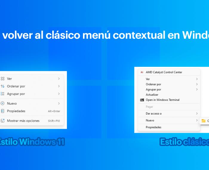 Cómo volver al clásico menú contextual en Windows 11