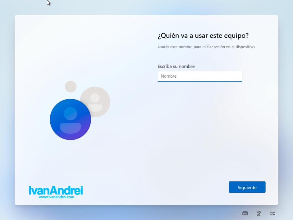 Windows 11 - Nombre de usuario